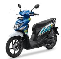 Honda BeAT POP eSP biru Putih