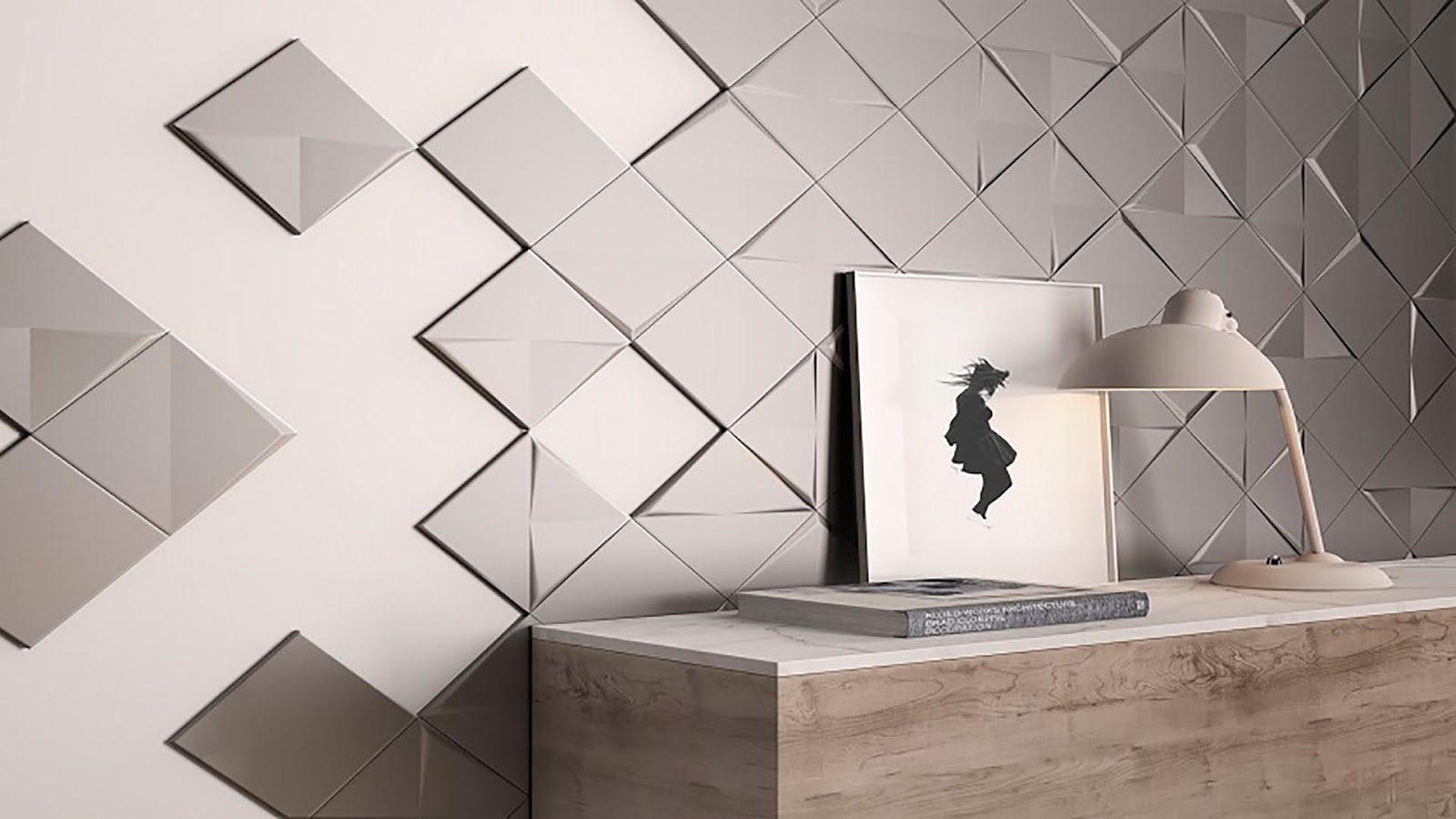 Design of tiles on wall with Aleaexperience - Great technical and ...