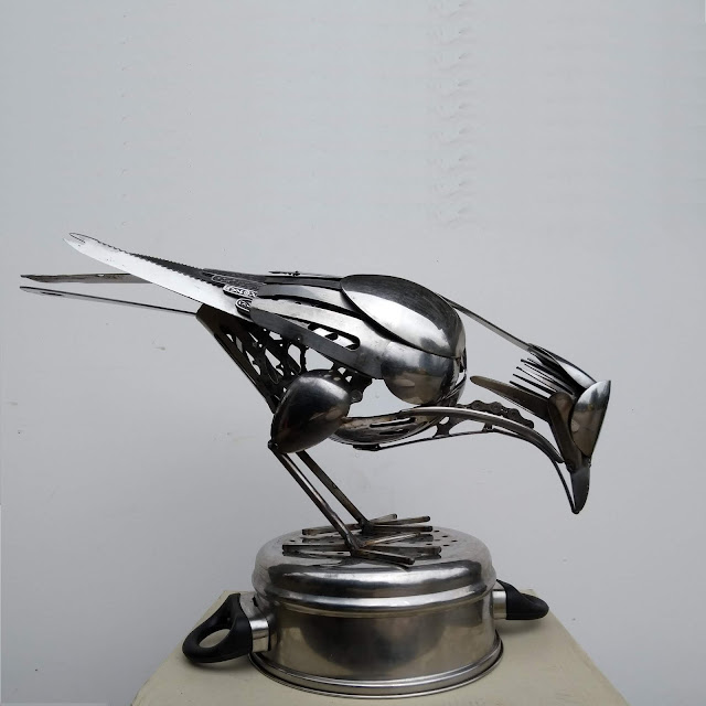 Ed Hill Metal Art - Crow