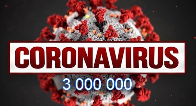 3 миллиона человек заразились коронавирусом по всему миру