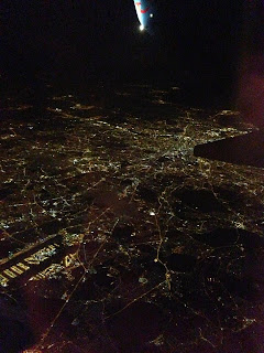VIEW FROM THE AIRPLANE WINDOW ON THE WAY TO SPAIN