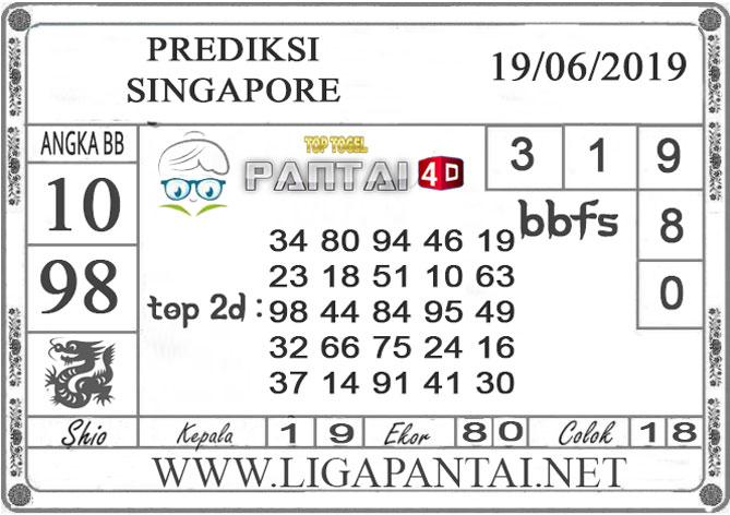 """PREDIKSI TOGEL """"SINGAPORE"""" PANTAI4D 19 JUNI 2019"""