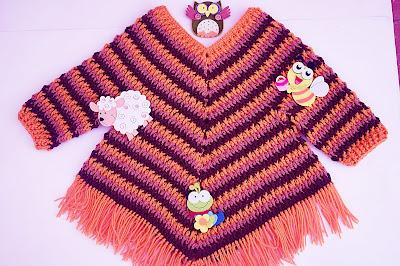 6 - Crochet Imagen Poncho otoñal a crochet y ganchillo por Majovel Crochet