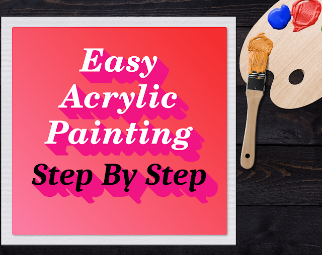 Guide to easy acrylic paintings for beginners. Covering topics like types of brushes,  color scheme, canvas, paint grades and  choosing subjects.