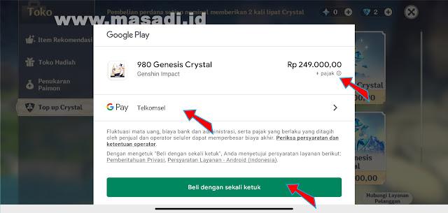 Top Up Genesis Crystal