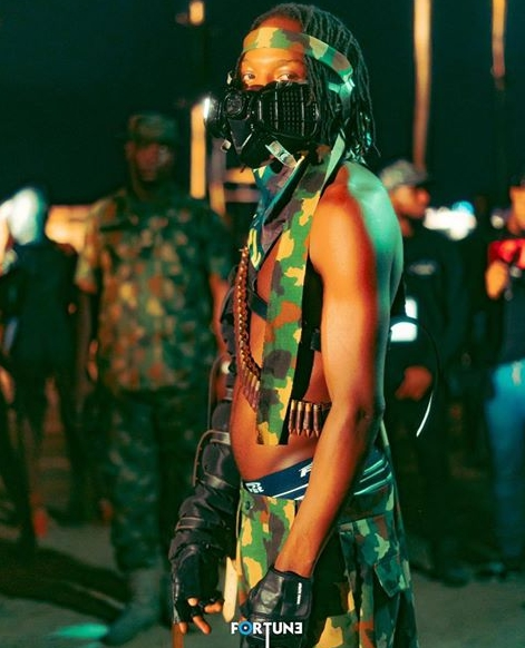 naira-marley-biography-Naira-Marley-during-Davido's-sweet-in-the-Middle-music-video