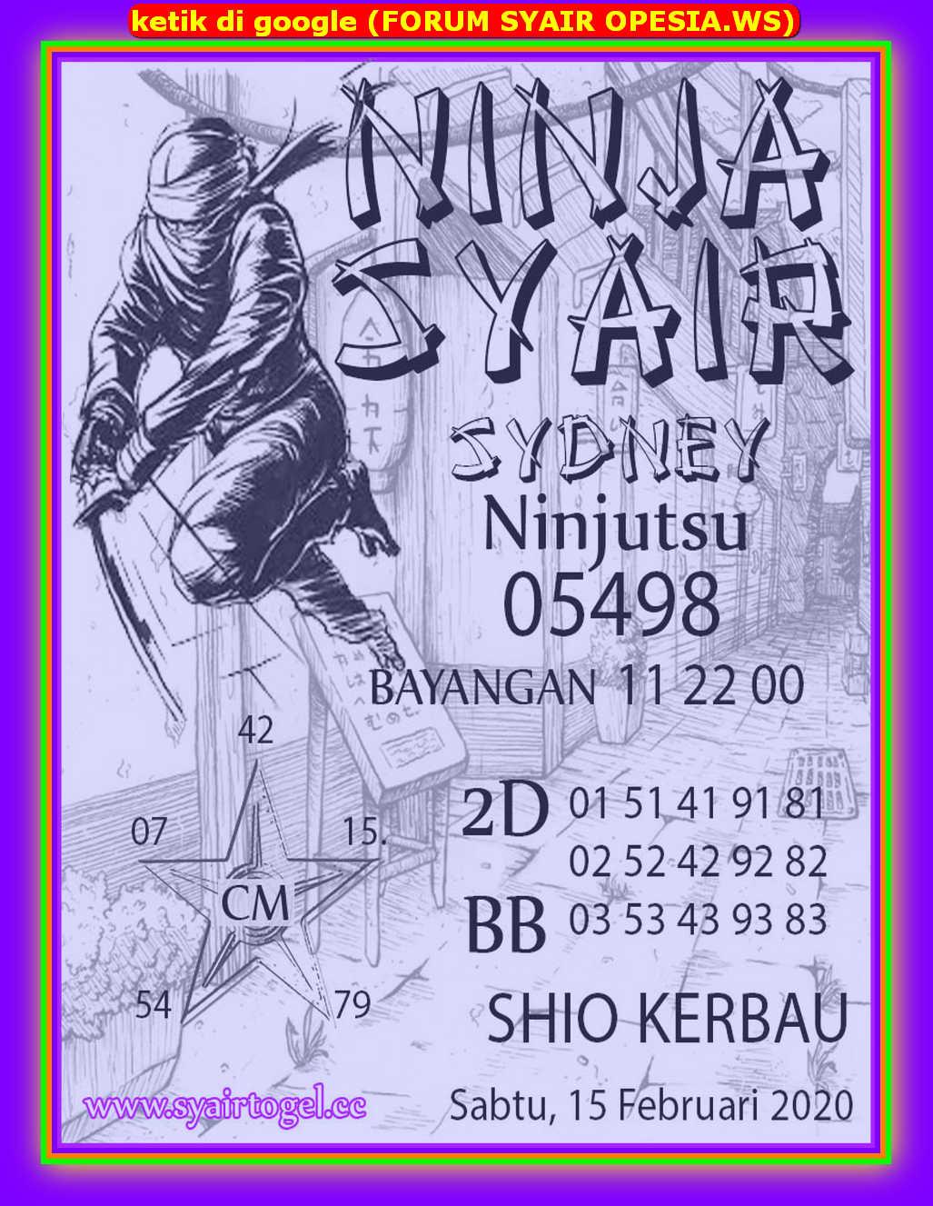 Kode syair Sydney Sabtu 15 Februari 2020 129