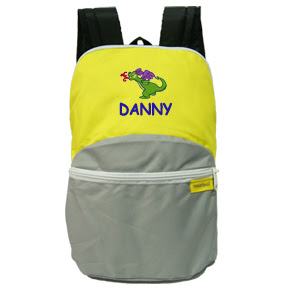 Personalized Blue puppy bag with customized embroidery on