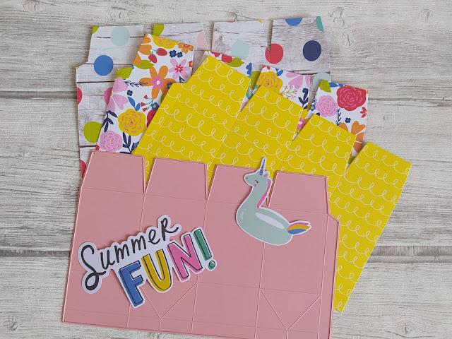 Summer Box avec la collection Sunkissed de Simple Stories milk box scrapbooking