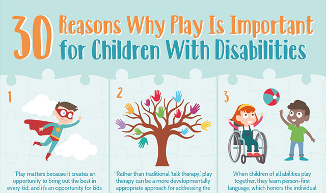 30 Reasons Why Play is Important for Children With Disabilities #infographic