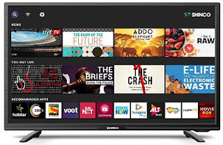 Shinco 80 cm (32 Inches) HD Ready Smart LED TV with Uniwall (Black) (2020 Model)