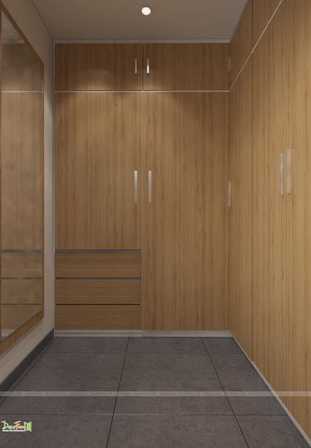 Tủ quần áo rộng rãi - Thiết kế và thi công nội thất căn hộ chung cư Officetel