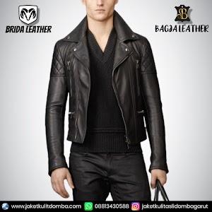 Jual Jaket Kulit Asli Garut Pria Domba Original Brida Leather B99 Ramones | WA 08813430588