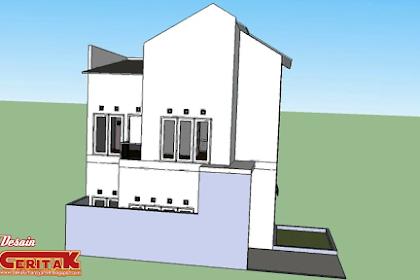 Desain Rumah minimalis di Lahan 7x12m² luas 93m²