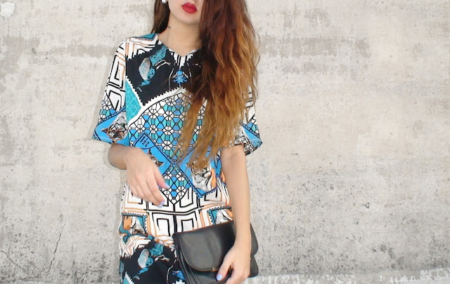 printed dress outfits style with veni