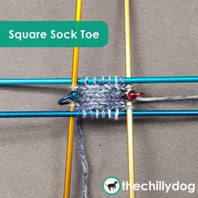 Knitting Video Tutorial - Learn how to knit a square sock toe on DPNs and on a circular needle with the magic loop method