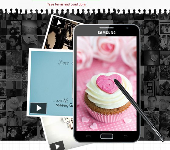 Free Personalized Samsung Galaxy Love Note Postcard