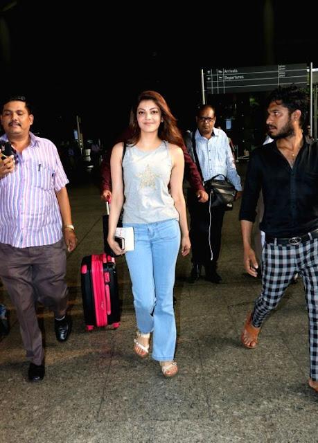 Kajal Aggarwal Hot Looking Without Makeup Face Long Hair Actress Trend