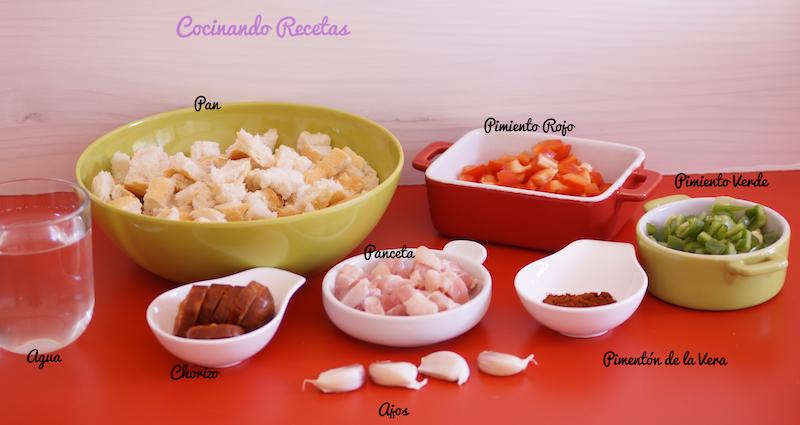 Migas Extremeñas-Ingredientes