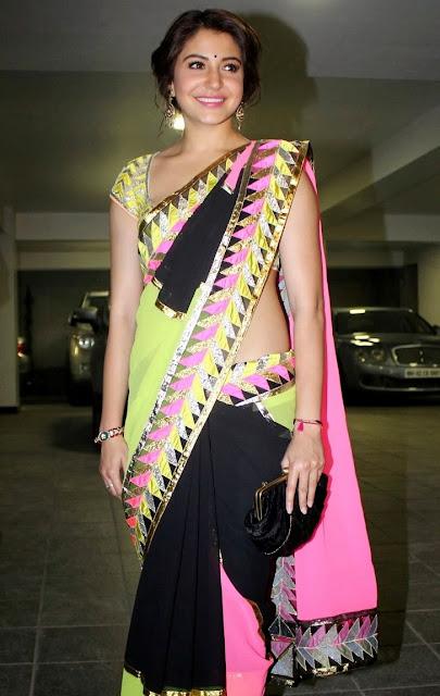 Bollywood Actress Anushka Sharma Latest Hot Pics In Saree Actress Trend