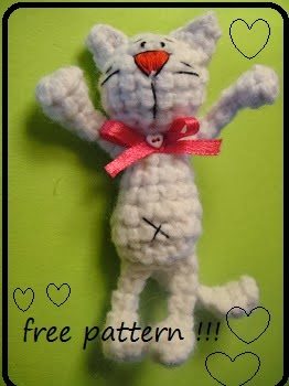 Crochet little cat - free pattern