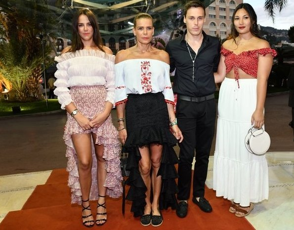 Princess Stephanie and her family, Pauline Ducruet, Camille Gottlieb, Louis Ducruet and Marie Chevallier attended the 2018 gala dinner