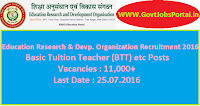 Education Research & Development Organisation Recruitment 2016