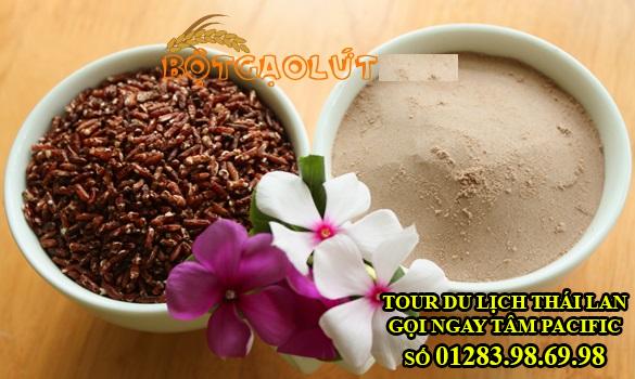 bột thực dưỡng từ gạo lứt