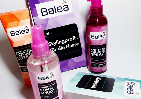 balea dm styling hair haare stalyingprofis locken spray anti frizz quick dry review testbericht