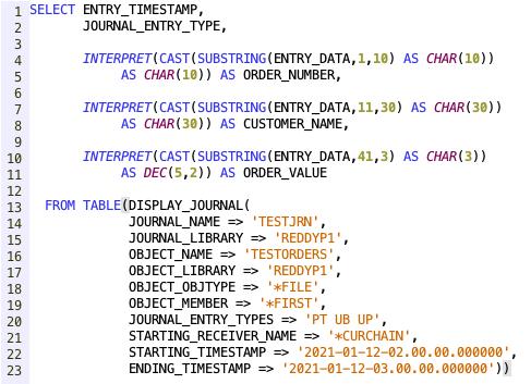 Display Journal on IBM i