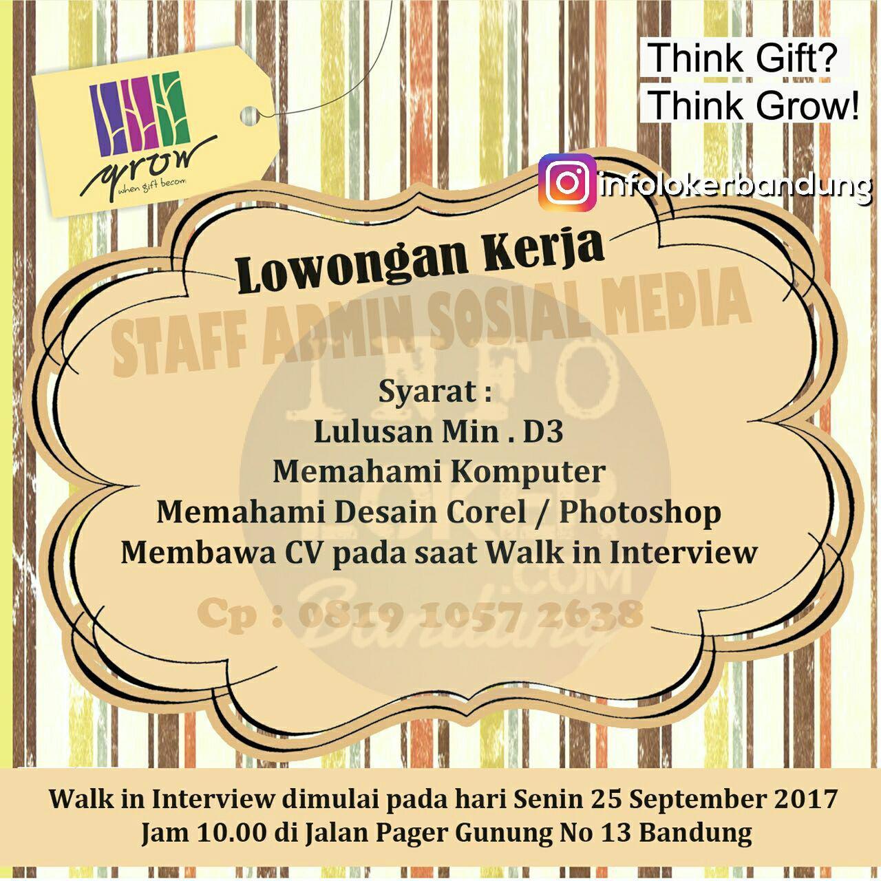 Lowongan Kerja Grow Gift Shop Bandung September 2017