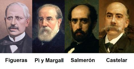Semblanzas de cuatro presidentes de la I República