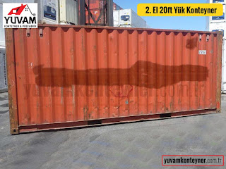 20lik yük konteyner yan duvar görünüşü