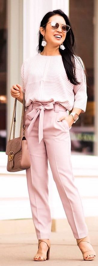 Loving these blush pants that are so comfy and flattering