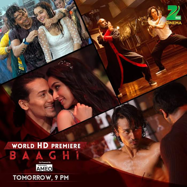 'Baaghi' Movie Tv Premier on Zee Cinema Channel Wiki Full Detail