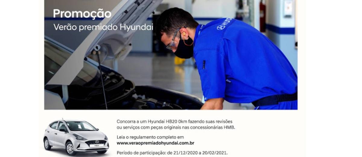 Promoção Verão 2021 Hyundai Sorteio HB20