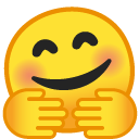 Hugging emoji