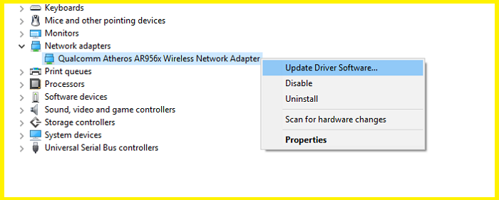 Network Adapters Windows 10