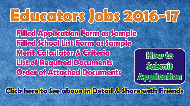 How to Apply for Educators Jobs Application Form