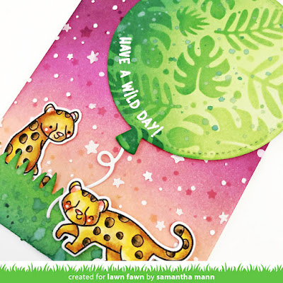 Have a Wild Day Card by Samantha Mann for Lawn Fawn, YouTube Video, Tutorial, Card Making, Handmade Cards, Distress Inks, Ink Blending, Stencil, Toucan Do It, #lawnfawn #lawnfawnstamps #distressinks #Inkblending #cardmaking #handmadecards