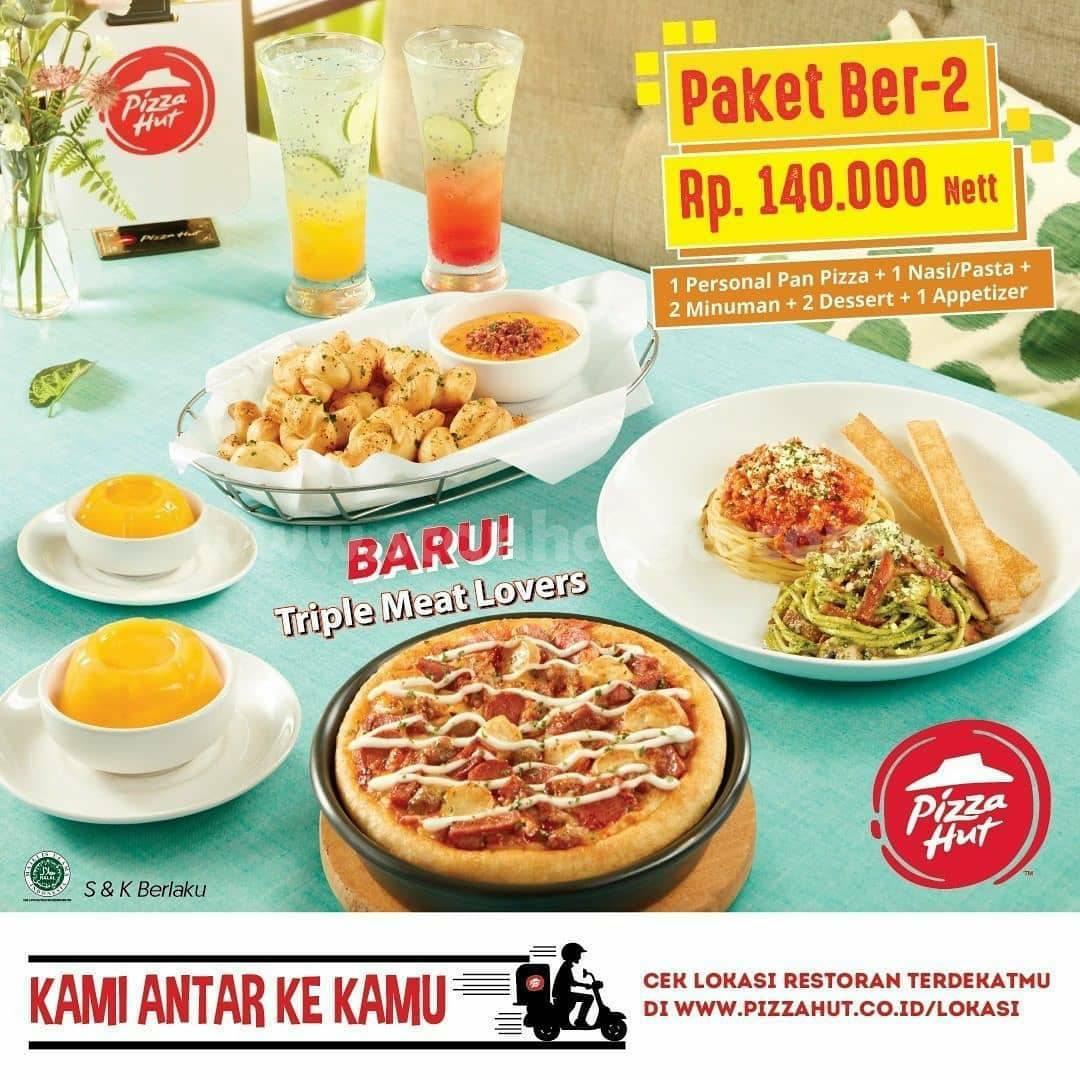 Promo Pizza Hut Harga Spesial Terbaru Paket Berdua Rp 140.000Net