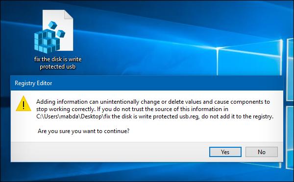 حل مشكلة The disk is write protected للفلاش ميموري والـ SD