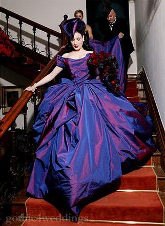 Deep Purple Wedding Dresses