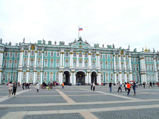 The Winter Palace / The Hermitage Museum facade