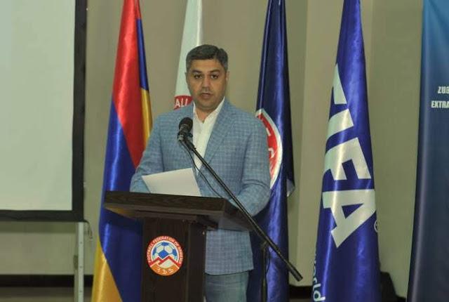 Dimite presidente de la Federación de Fútbol de Armenia