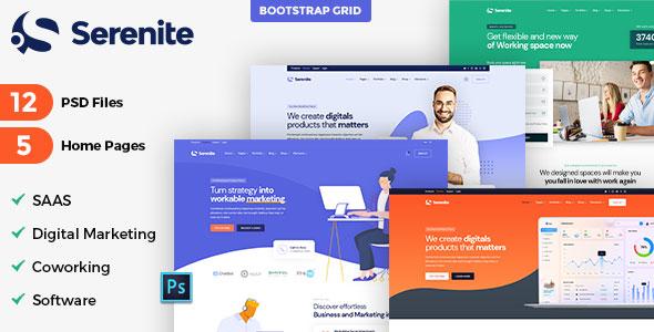 Best Saas Software Landing & Startup Agency Template