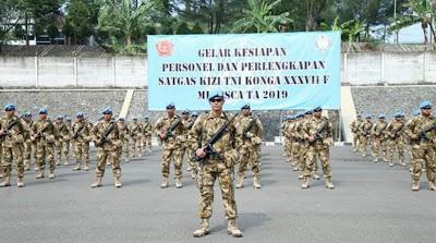 Satgas Kizi TNI Konga XXXVII F Minusca TA 2019 Dinyatakan Siap Operasi
