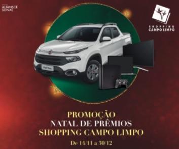 Cadastrar Promoção Natal 2020 Campo Limpo Shopping FIAT Toro, Notebooks, Tvs e PS4
