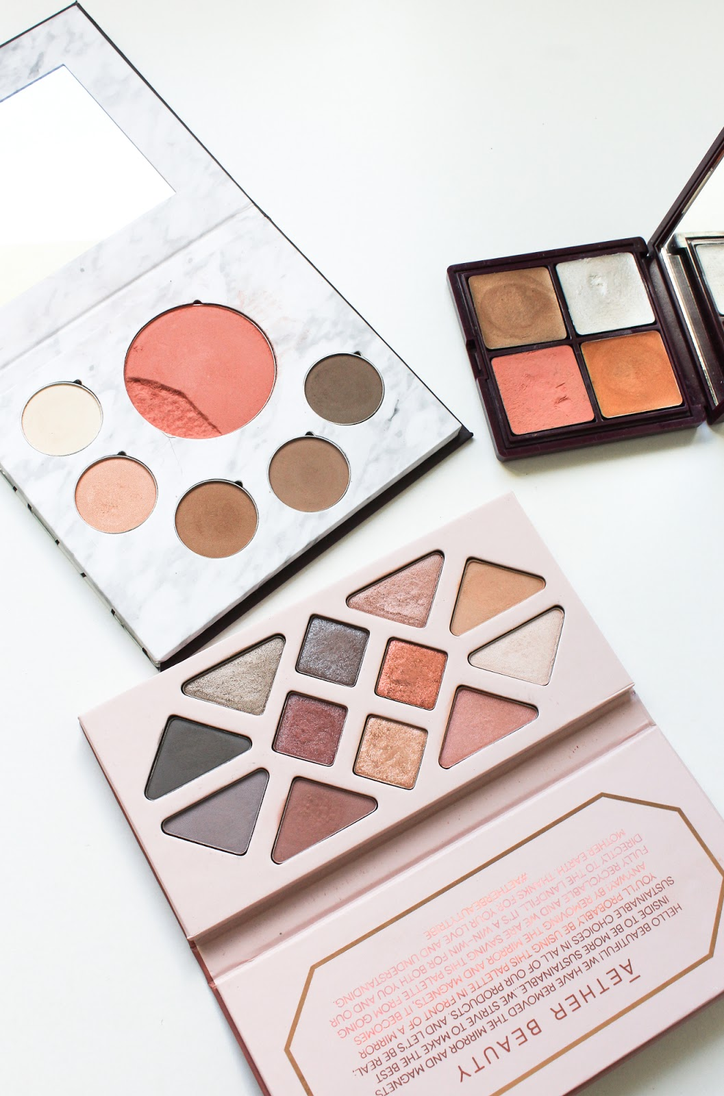 Natural Organic Makeup Eyeshadow Palette Aether, Fitglow, Nude and Noir