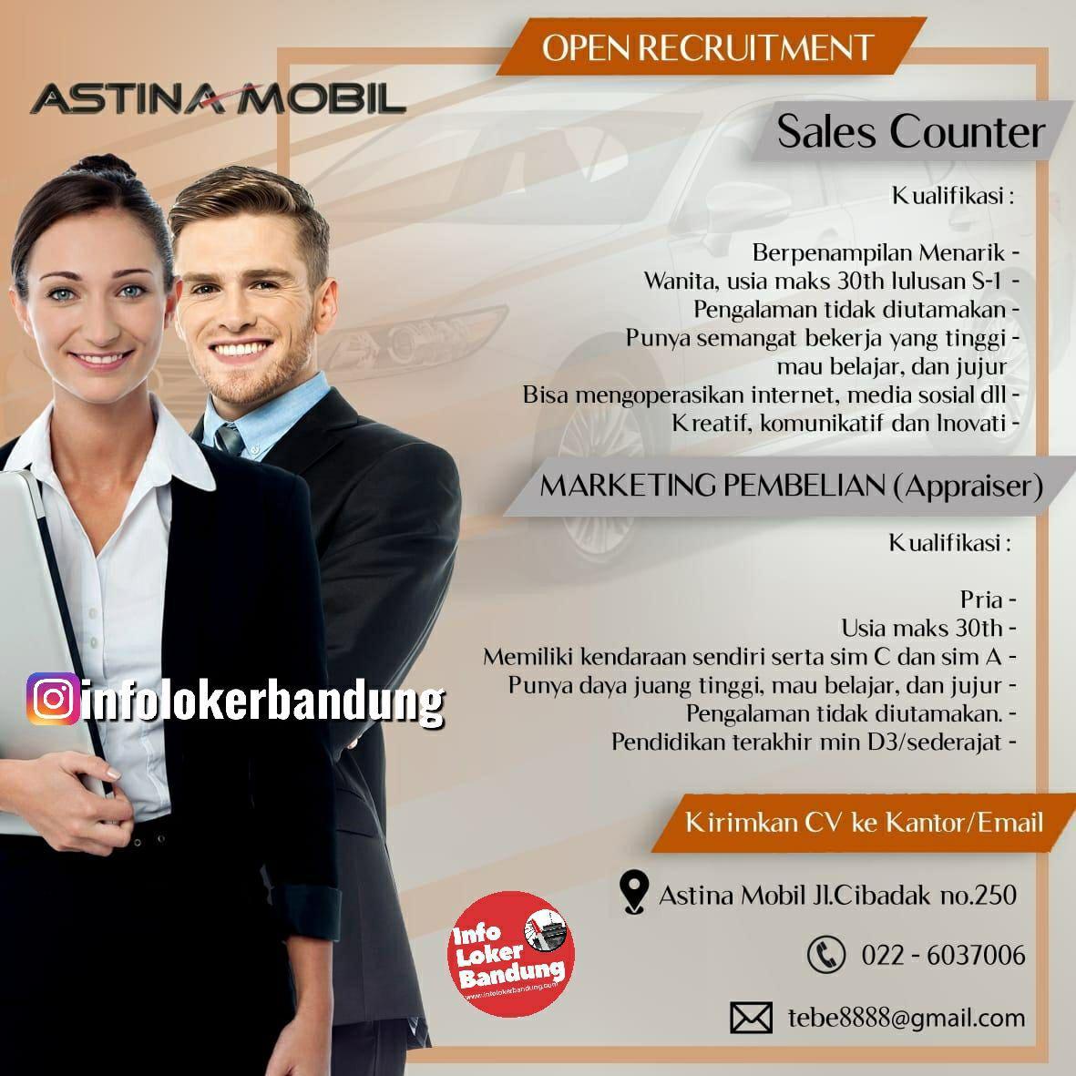 Lowongan Kerja Astina Mobil Bandung Mei 2019
